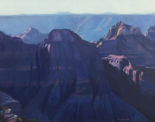 _North Rim Blues_ 11 X 14_ oil 2008